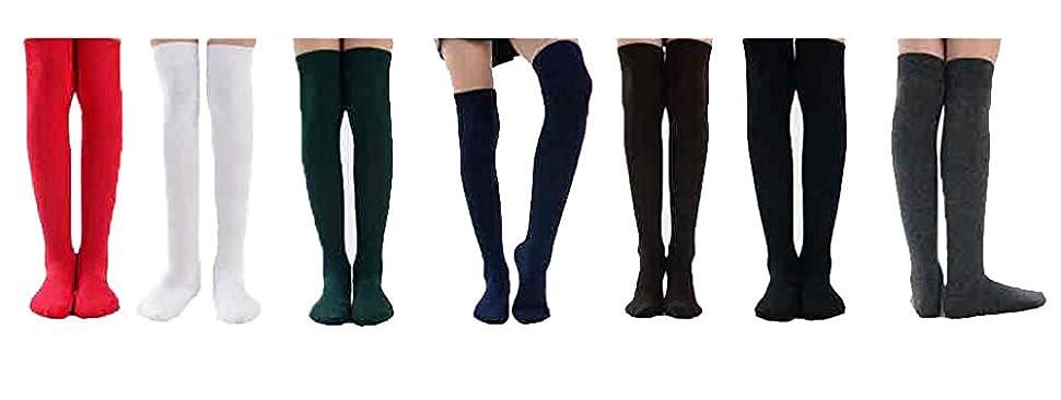 Knee High Socks 6 PAIRS Black White Grey Navy Long School Socks UK Size Kids12-3