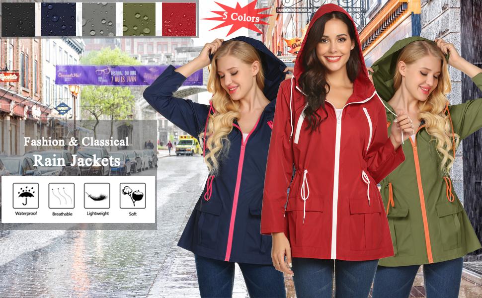 womens rain jacket