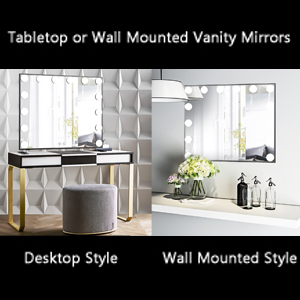 Tabletop/Wall Mounted LED Makeup Mirror