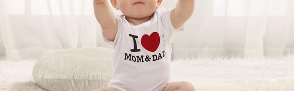 e56e22d56 Amazon.com: TENGBOKY Funny Baby Onesies Long Sleeve Onesies ...