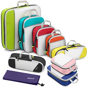 Gonex Clothing Compression Cubes set -Extensible Storage Mesh Bags