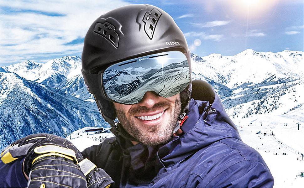 f31acdb20347 Amazon.com   Gonex Magnetic Ski Goggles