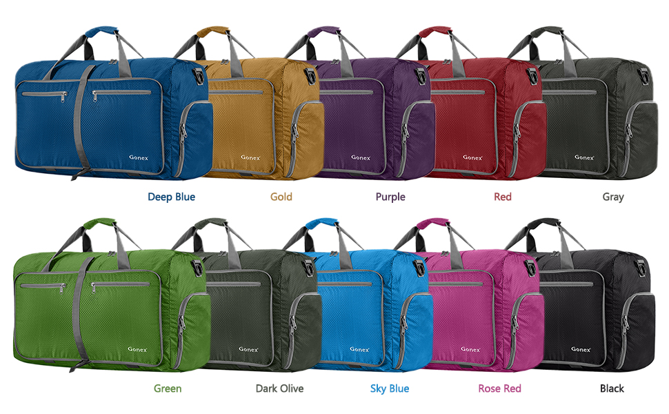 Amazon.com  Gonex 60L Foldable Travel Duffel Bag Water   Tear ... 50340019320e4
