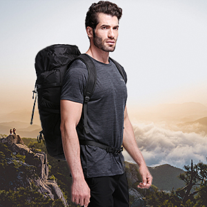 Gonex 45L Packable Travel Backpack, Lightweight Dackpack for Hiking, Camping & Travelling