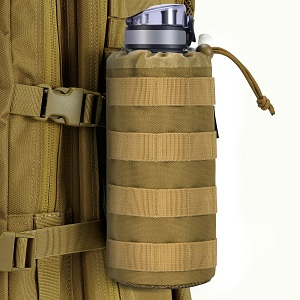 Gonex Tactical Military MOLLE Water Bottle Pouch Drawstring Tactical Hydration Carrier