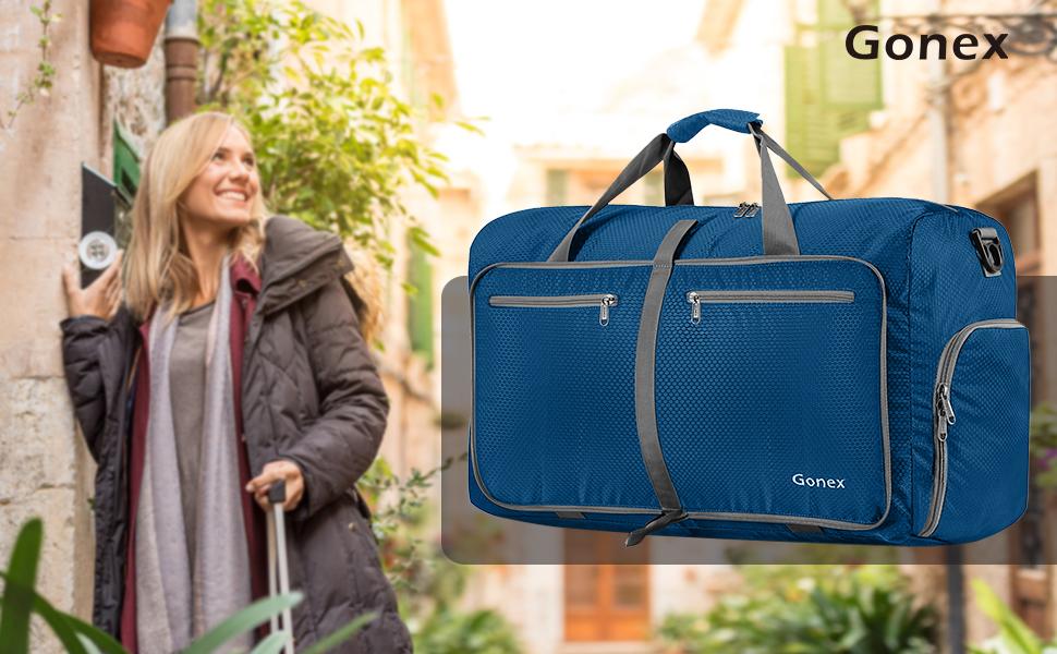 Amazon.com  Gonex Foldable Travel Duffel 80L, Packable Luggage ... 76794bda6d0