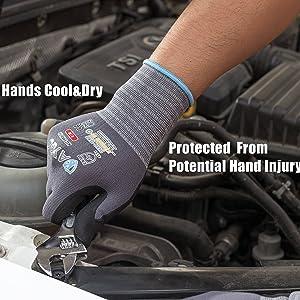 work gloves hand cool
