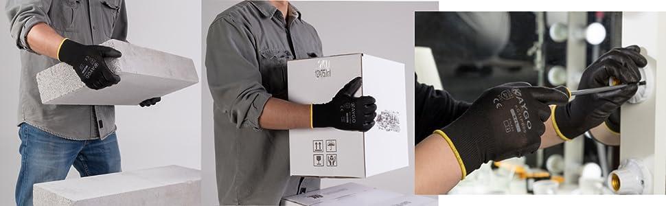 work gloves grip thin black work gloves bulk