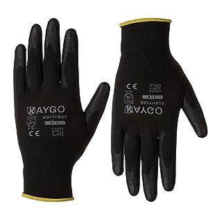 work gloves black