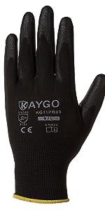 work gloves,KG11PB,Pu coated
