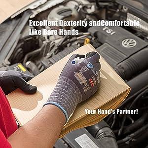 Work gloves nitrile coated men car