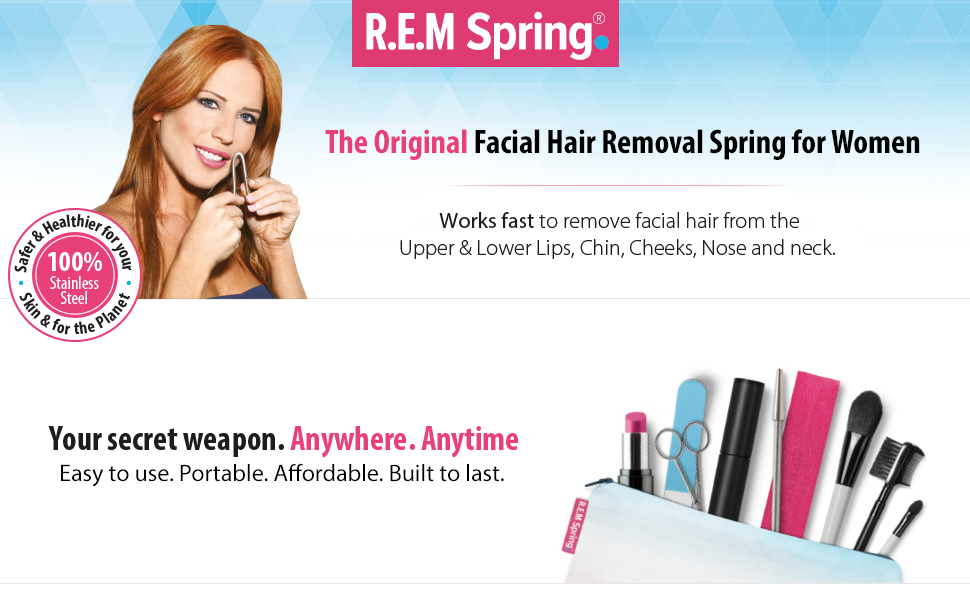 Using the R.E.M Spring is as easy as Bend, Twist, Glide!