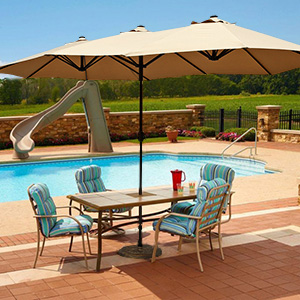 Nice 14.7 Foot Le Papillon Rectangle Patio Umbrella Brings You Complete Shade  Space, Which Is Covering Larger Areas. With It You Can Entertain With Your  Friends, ...