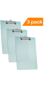 Pack of 6 Pearl Officemate Recycled Plastic Clipboards 83087 Letter Size