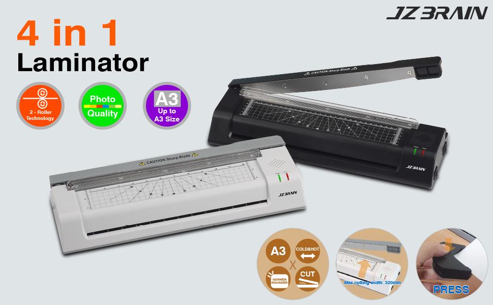 Amazon.com: JZBRAIN 4-en-1 Máquina de laminado térmico, alta ...
