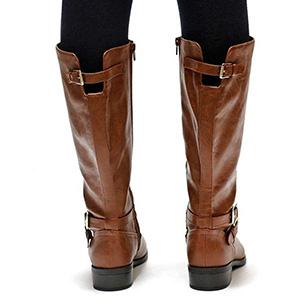 143ef1669c1 Amazon.com  Meilidress Womens Wide Calf Winter Cowgirl Boots Tall ...