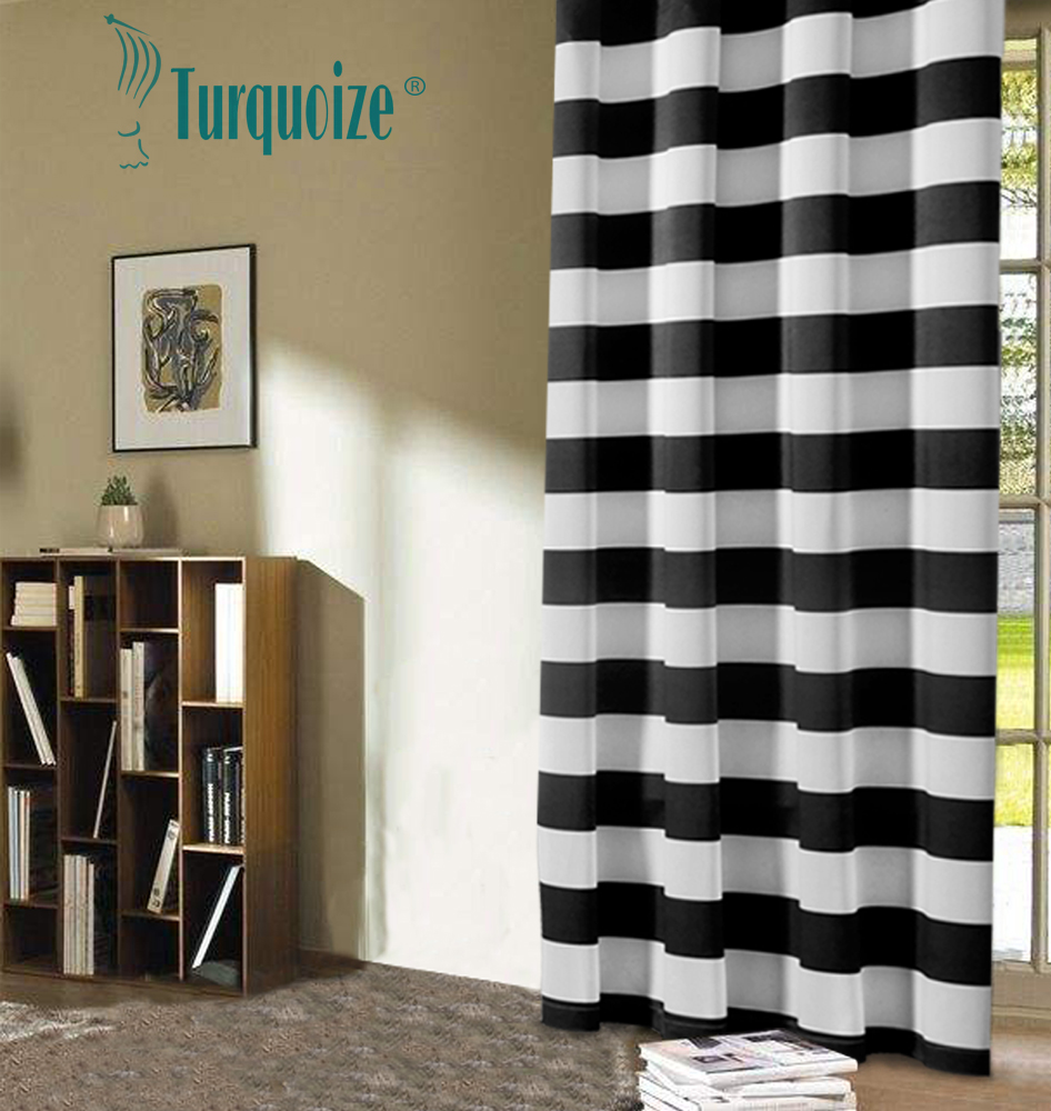 Turquoize Nautical Blackout Curtains 2 Panels Room Darkning Grommet Top Light