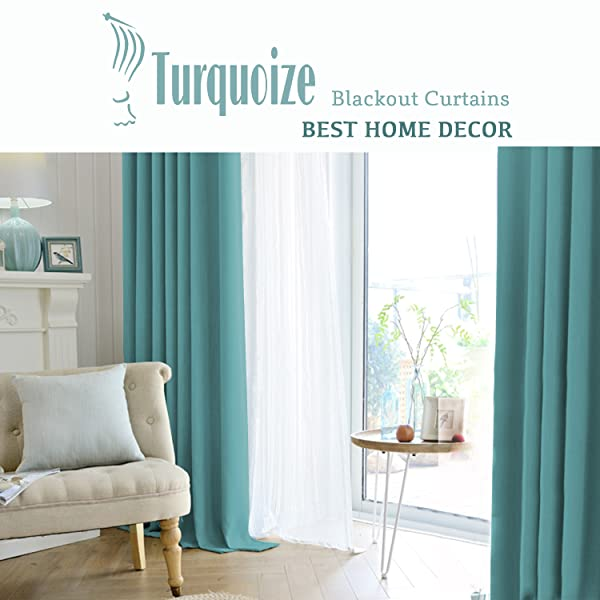 TURQUOIZE Concentrates On Products Ready  Made Home Décor Window Treatments  And Sales On Amazon. Including Blackout Curtains/ Draperies, Faux Linen  Sheer ...