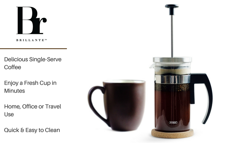 bT8DmwdETn2M. UX970 TTW    Cup French Press Coffee Maker Amazon Com Brillante Small French Press Coffee Maker With  Ounce  Cup Glass Beaker