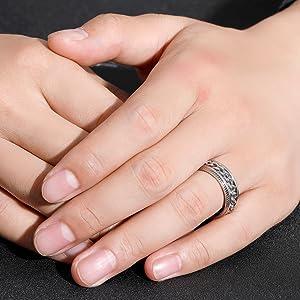 spinner ring rose gold for men women lucky ring wedding ring