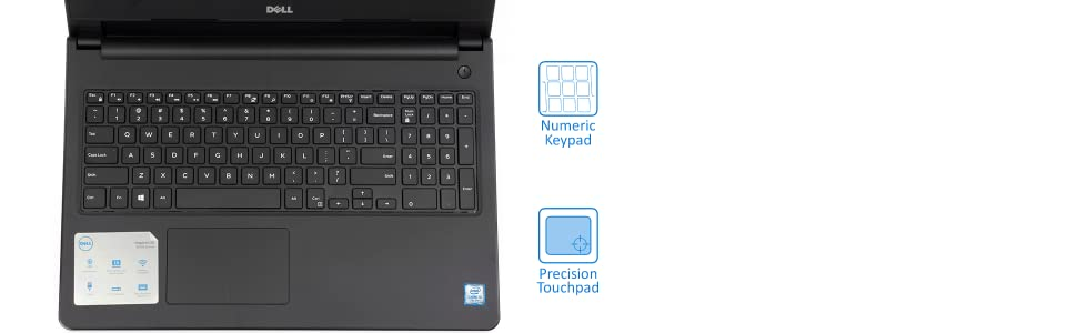 "Dell Inspiron 15.6"" Touchscreen Laptop keyboard view"