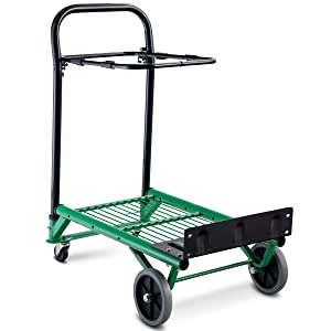 f98d01b34849 Goplus Hand Truck 2 in 1 Multi-Functional Dolly Gardening Lawn Leaf Bag  Support Platform Folding Truck Cart, 200Lbs Capacity for Light Load