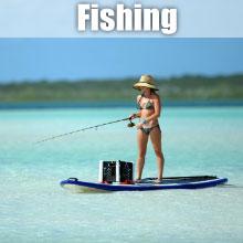 fishing on SUP