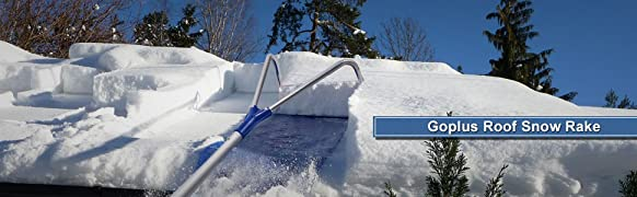 Amazon Com Goplus Roof Snow Rake Removal Tool 20 Ft With