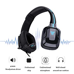 Amazon.com: TRITTON Kama Plus Gaming Headset with mic, for