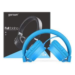 blue kids headphones package