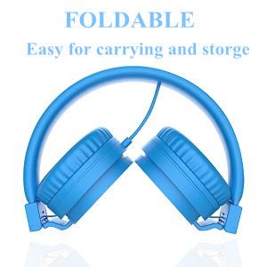 kids headphones blue boys foldable