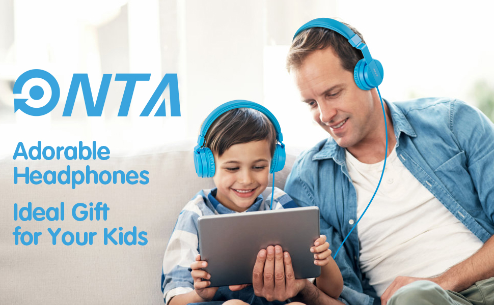 kids headphones blue boys