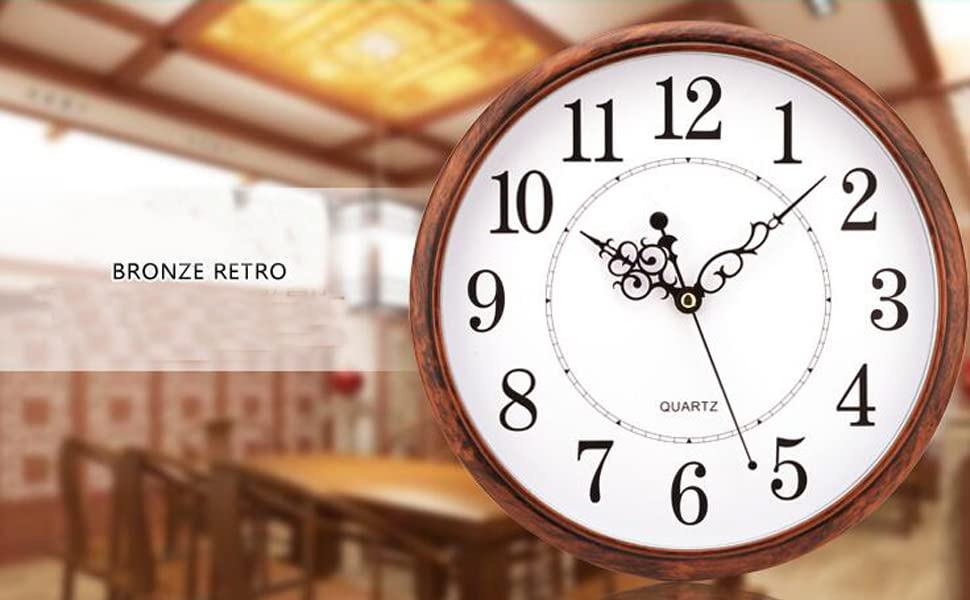 Non Ticking Silent Quality Quartz Decorative Wall Clock 12 inch Retro Clock