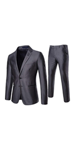 ee2841336 Men's Single Breasted Suit Lapel Solid Color 2 Buckle Fashion Slim 2 ...