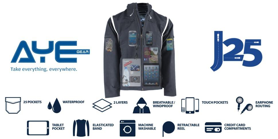 Amazon Com Ayegear J25 Jacket And Vest With 25 Pockets