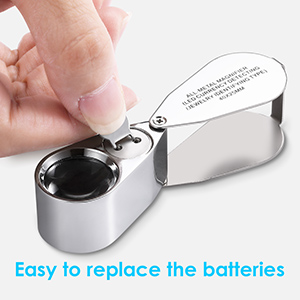 full metal loupe with light