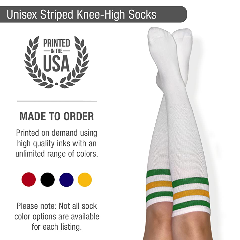dc2835ff1 Amazon.com  Eleven Halloween Costume Socks  Unisex Striped Knee-High ...