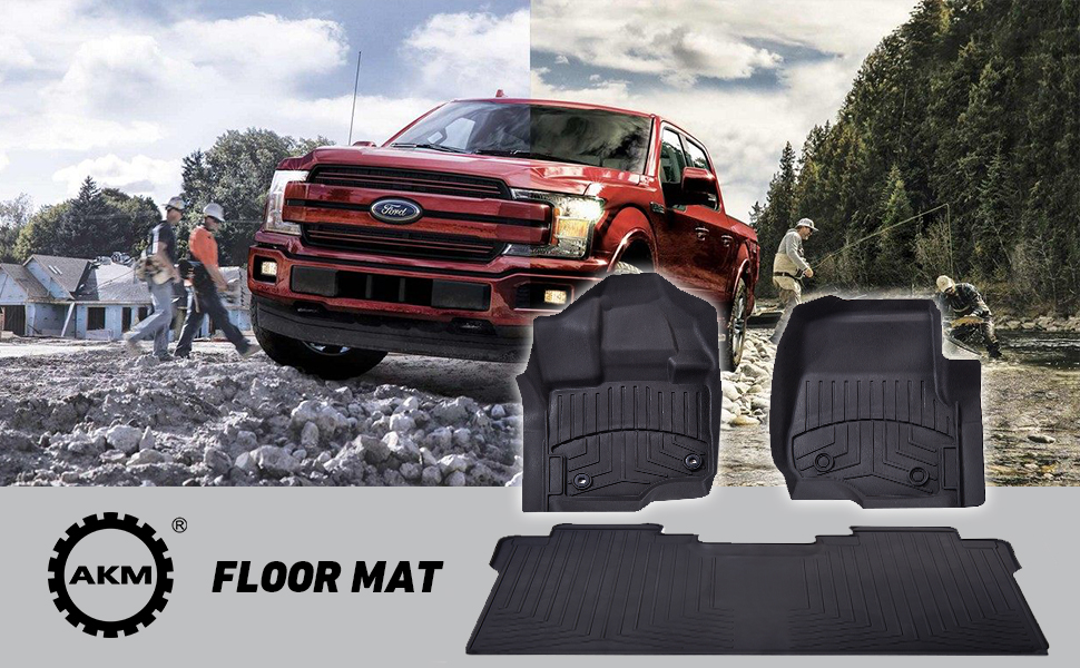 Prime Floor Liner Fit Ford F150 2015 2019 Akm Black Floor Mats Includes 1St And 2Nd Row Fit Supercrew Crew Cab Carpet Floor Bucketupdated Version Uwap Interior Chair Design Uwaporg