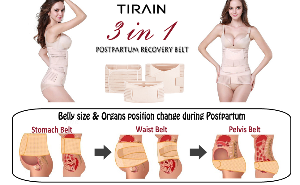 d122250c39 Tirain 3 in 1 Postpartum Support - Recovery Belly waist pelvis Belt  Shapewear Waist Belts. Essentials for Postpartum Recovery helps you get your  body back ...