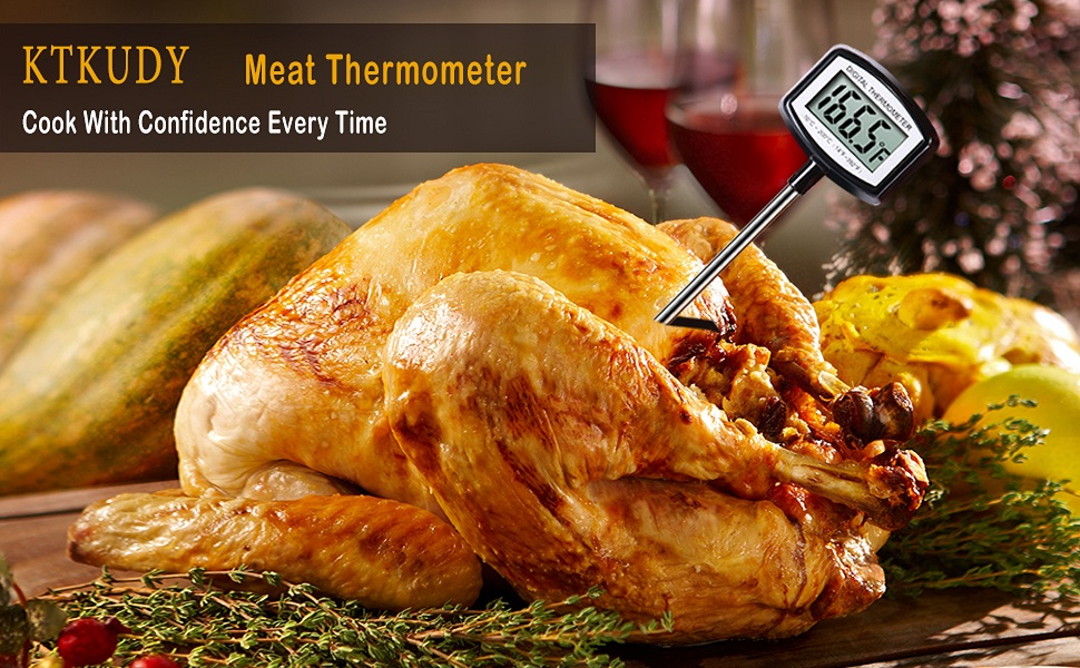 digital meat thermometer instant read for cooking and kitchen