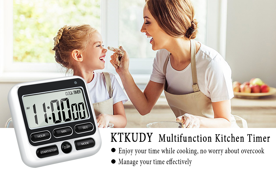ktkudy multifunction kitchen timer enjoy your time while cooking no worry about overcook