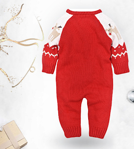 f2b9af3c4 Amazon.com  ZOEREA Newborn Baby Romper Christmas Clothes Knitted ...