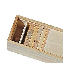 dice wood blocks storage box
