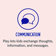 Play lets kids exchange thoughts, information, and messages.