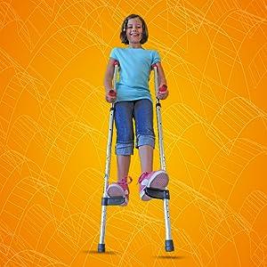 Walkaroo JR. lightweight aluminum stilts