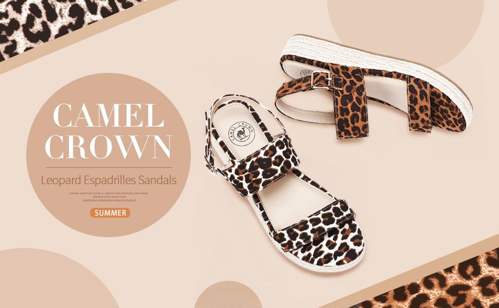 Amazon.com: CAMEL CROWN - Sandalias de cuña con plataforma y ...