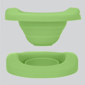 green collapsible liner