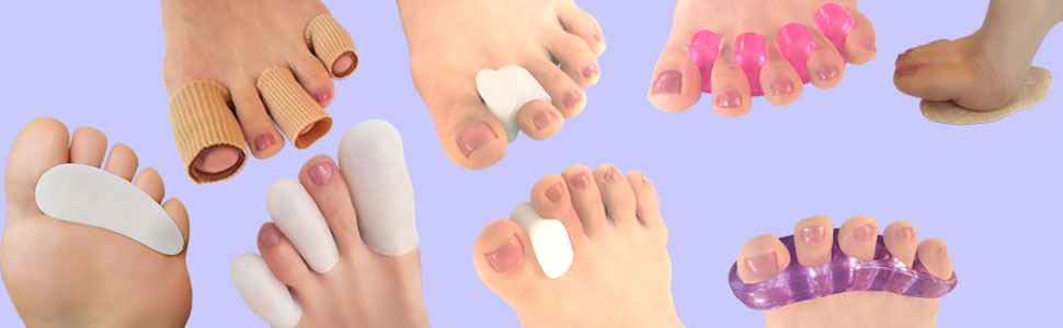 Chiroplax toe separators bunion pads hammer toes
