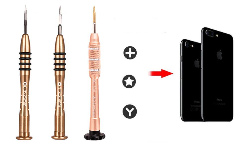 Deluxe Cell Phone Repair Tool Kits for iPhone 7 /& 7 Plus PS-607 Tri-Point 0.6 Precision Screwdriver Repair Kits