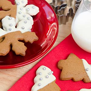 starpack christmas cookie cutters set gingerbread man star snowflake stainless steel holidays